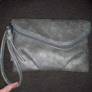 NWOT Maurices Gray Wristlet Bag